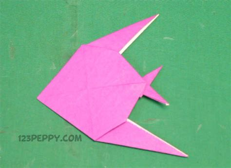 Origami Easy Fish - origami crafts project ideas 123peppy