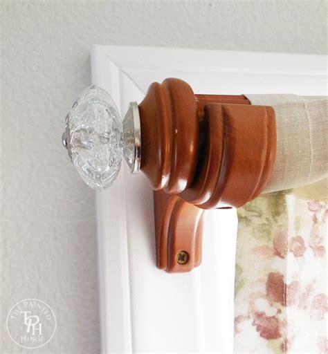 curtain pulls diy curtain rod makeover using drawer pulls