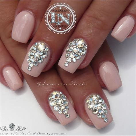 wedding nails bridal nails wedding bling acrylic overlay with