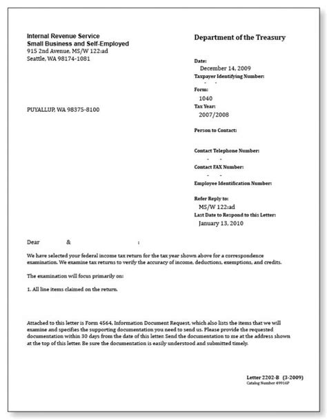 Irs Letter Template Shatterlion Info Irs Letter Template