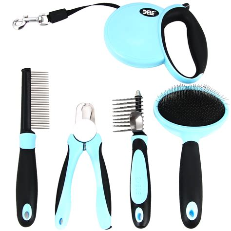 Sale Portable Professional Kemei 5in1 Waterproof Hair Clipper Razor pro pet grooming kit set 5 in 1 animal hair clipper brush comb clippers leash trimmer