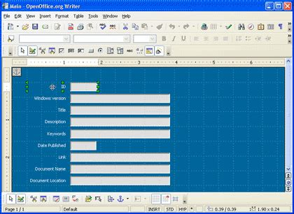 layout open office base performing common access tasks in openoffice org 2 0 s