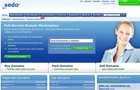 sedo domain which domains sedo receives offers of 1 million 500k