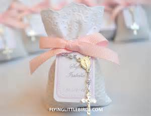 Favors For Baptism christening lavender sachets with pink bow baby baptism