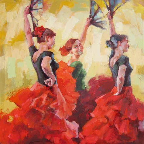 arte flamenco wallpaper flamenco dancer painting wallpaper full desktop backgrounds