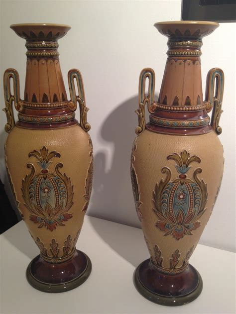 pair of mettlach villeroy and boch vases 256735