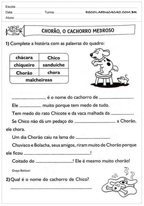 ch e atividades ch para imprimir atividades educativas