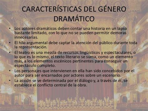 Genero Dramatico el teatro caracter 237 sticas