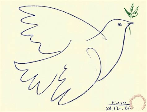 Pablo Picasso Blue Dove Painting Blue Dove Print For Sale