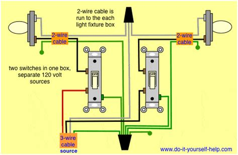 dual light switch wiring diagram how to wire a pole