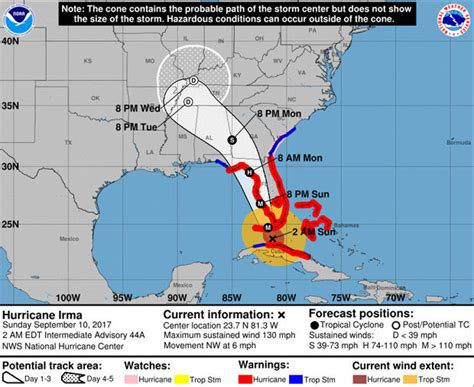 hurricane irma hit date hurricane irma update three dead as florida hit by 120mph