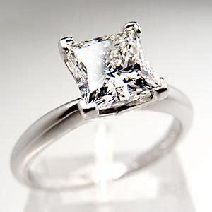 1 5 carat princess cut solitaire engagement ring