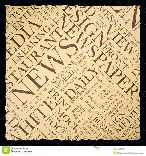 newspapers background stock illustration 294853400 vintage newspaper vector background texture word cloud stock illustration illustration