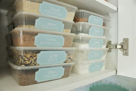 Pantry Organization Containers by Pantry Pretty Dollar Store Pantry Makeover