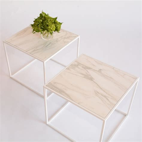 faux marble side table calvin side table faux marble white furniture rentals