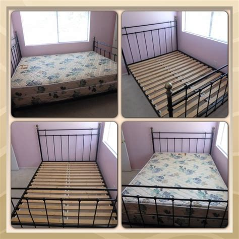bed frame with box spring offerup ikea queen size bed frame with box spring mattress furniture in