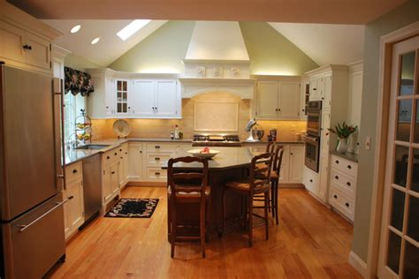 dramatic vaulted ceiling in kitchen traditional north andover massachusetts kitchen traditional