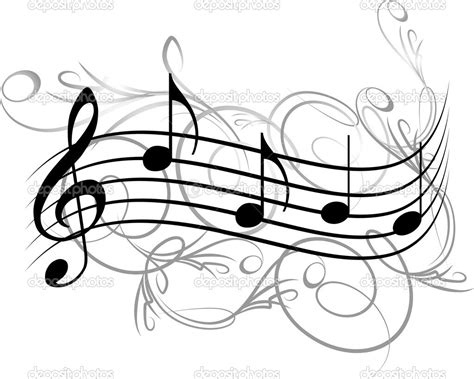 design notes 18 music notes vector designs images music notes vector