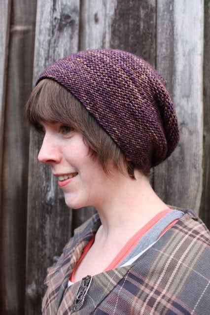 knitted hat pattern dk yarn slouchy hat designed for dk weight yarn in a variegated