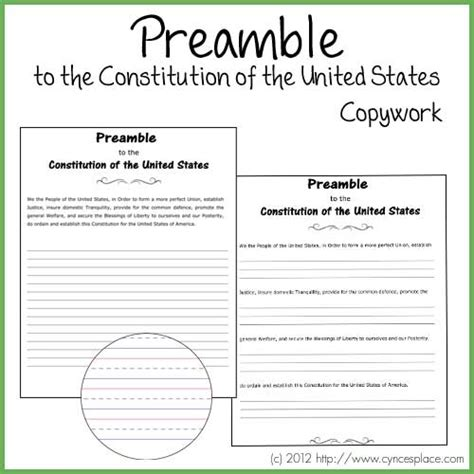 free printable us constitution worksheets preamble worksheet worksheets releaseboard free