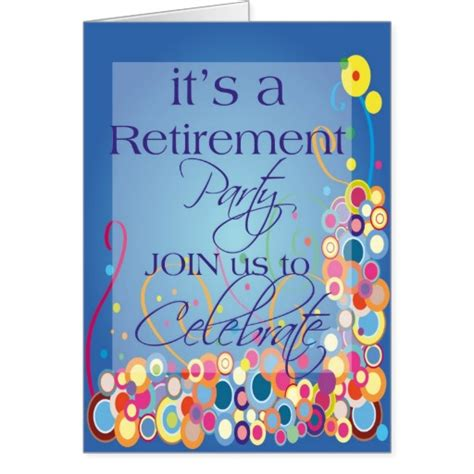 Retirement Celebration Invitation Templates