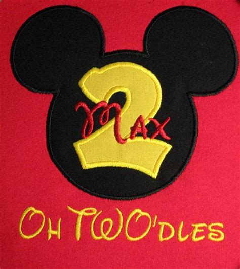 8564 Yellow Mickey Mouse personalized mickey mouse oh two dles birthday shirt with