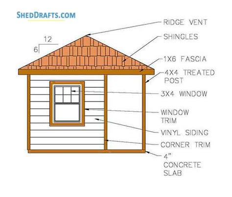 hip roof storage shed plans blueprints  lovely