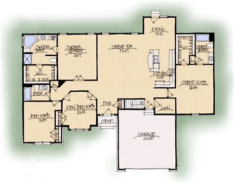 in suite floor plans home design ideas