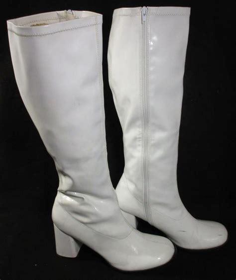 white plastic reproduction quot go go quot boots
