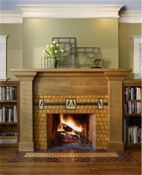 Arts And Crafts Tiles For Fireplaces by Mission Style Arts And Crafts Fireplace See All Products From Motawi Tileworks 33 For The