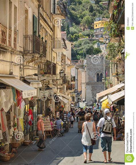 umberto giardini tour the center of taormina in southern italy on the island of
