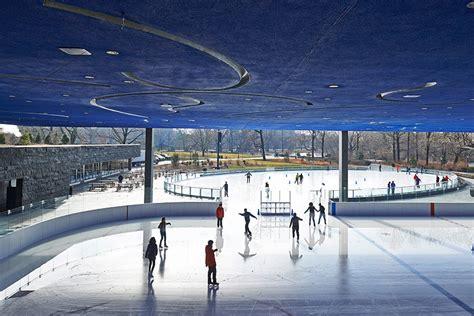 architecturally beautiful ice skating rinks