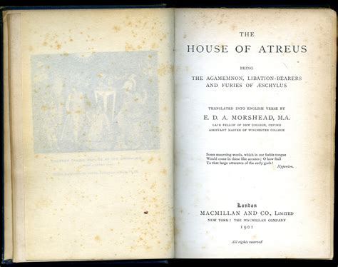 House Of Atreus by Secondhand Books Used Textbooks Out