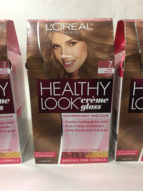 l oreal healthy look creme gloss hair color choose your color ebay 3 x l oreal healthy look creme gloss hair color latte 7 new ebay