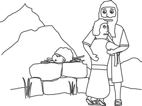 Coloring Page Isaac And Abraham by My Children S Curriculum August 2013