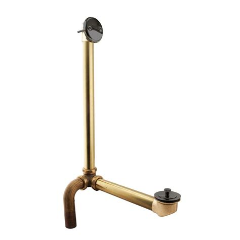 overflow trim ring oil rubbed bronze westbrass outlet overflow with tip toe trim and 2