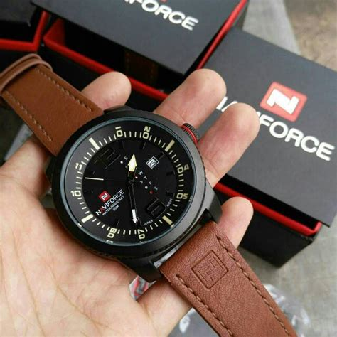 Jam Tangan Naviforce Nf9049 Silver Black Original naviforce original leather race 3 pilihan warna jam
