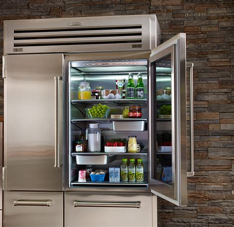 Pro 48 With Glass Door Price Side By Side Refrigerator Freezer With Glass Door Pro 48 Dual Refrigerator Sub Zero
