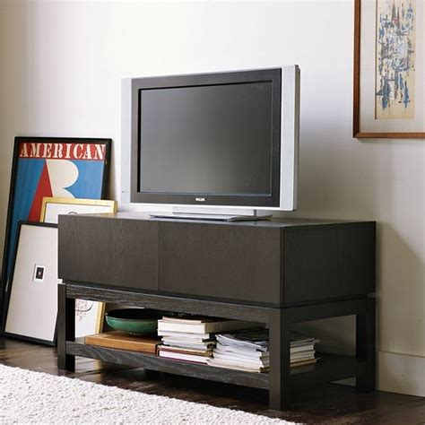 West Elm Media Cabinet by New Parsons Media Small Console Modern Entertainment