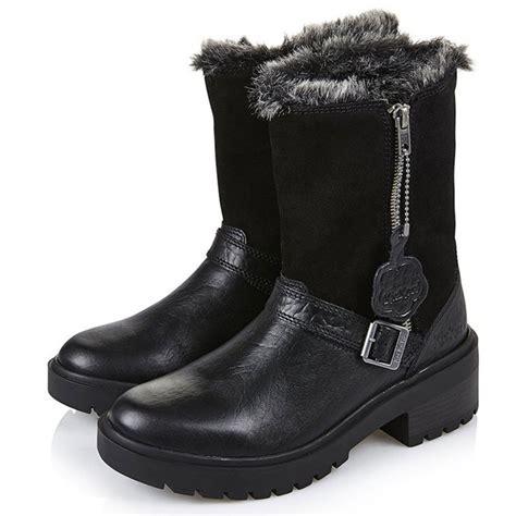 kickers kickmando biker leather boots black water