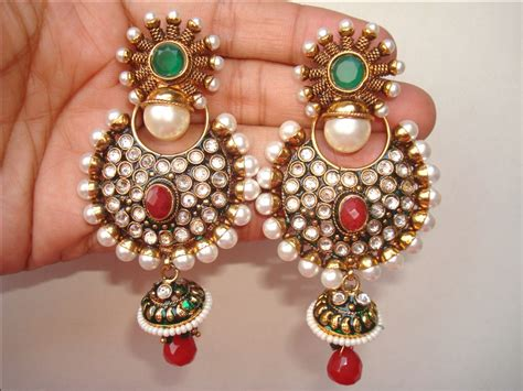 earings desing jhumka jhumki jewellery india