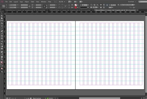 in design layout grid indesign 15 column grid template the grid system