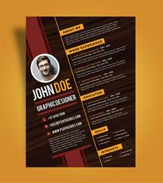 free creative resume design template for graphic designer