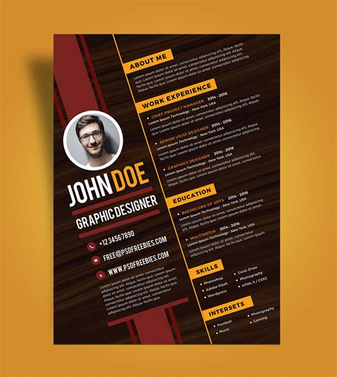 Creative Resume Designs by Free Creative Resume Design Template For Graphic Designer
