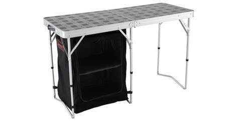 coleman  camp table storage