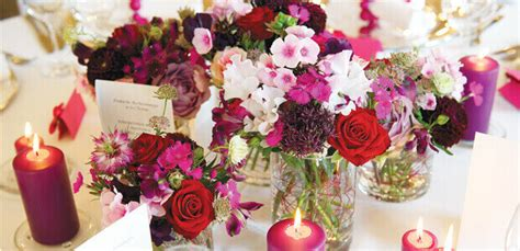 Tischdeko Hochzeit Fuchsia by Tischdekoration F 252 R Die Hochzeit In Beere Und Fuchsia Weddix