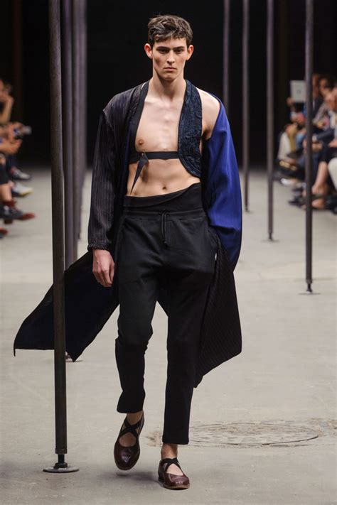 Menswear Chic At Dries Noten Gets A Twist By Wearing The Necktie Like A Harness Its A Snap To Capture The Spirit Without Breaking The Bank Fashiontribes Fashion by Dries Noten 2015 Menswear The Cut