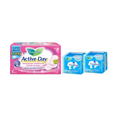 Laurier Cleanfresh Perfume Pantyliner 20 Pcs jual laurier active day maxi wing 8s laurier cleanfresh non perfume pantyliner