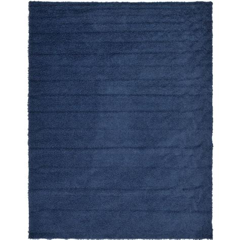 navy blue shag area rug unique loom solid shag navy blue 10 ft x 13 ft area rug 3127892 the home depot