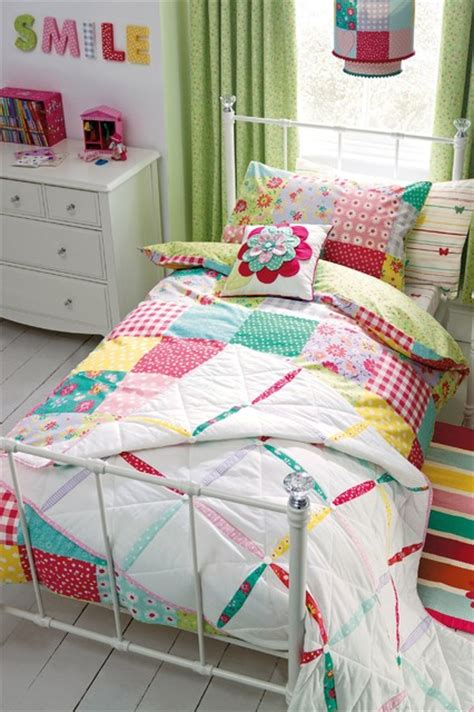 patchwork bed set modern children s bedding by next
